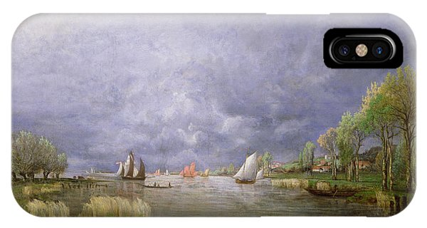Flooded iPhone Case - Banks Of The Loire In Spring by Charles Leroux