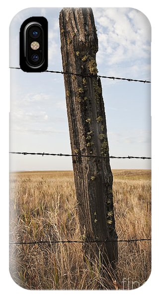 Barbed Wire Fencing And Wooden Post Phone Case by Jetta Productions, Inc
