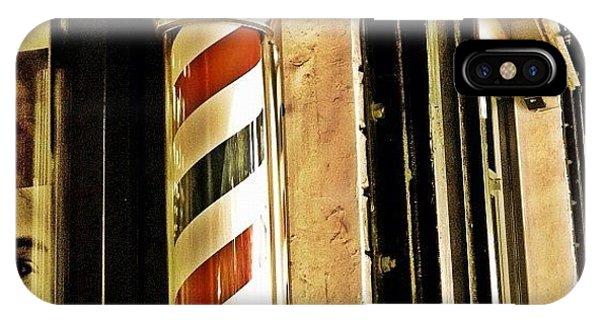 Vintage iPhone Case - Barbershop by Joel Lopez