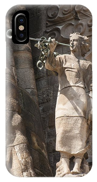 Barcelona Church Sagrada Familia Nativity Facade Detail Phone Case by Matthias Hauser