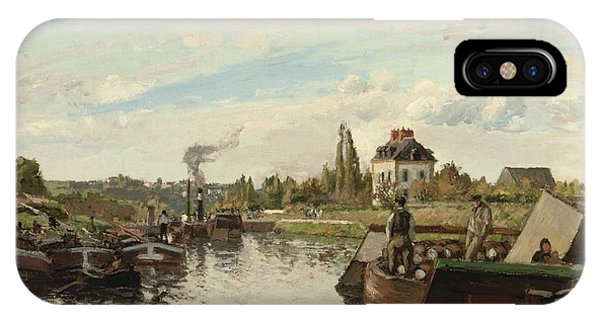 Barge On The Seine At Bougival IPhone Case