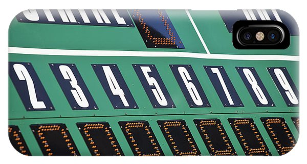 Baseball Scoreboard Phone Case by Bryan Mullennix