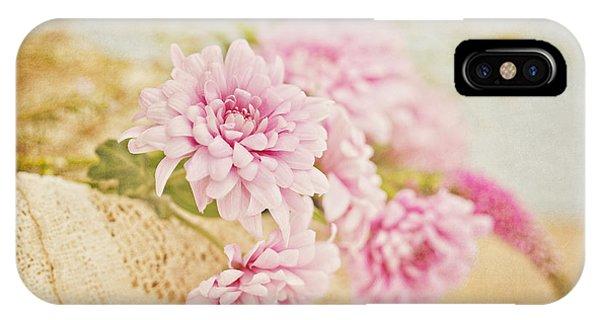 Basket Of Vintage Floral Goodness IPhone Case