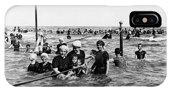Bathing In The Gulf Of Mexico - Galveston Texas  C 1914 IPhone Case