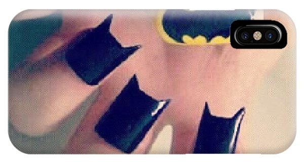 Superhero iPhone Case - #batman #bat #man #black #yellow #nails by Alexandra Gerakin