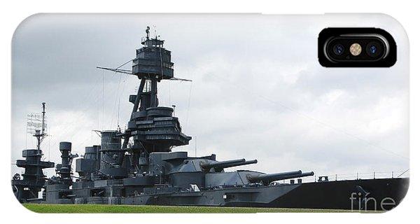 Battleship Uss Texas IPhone Case