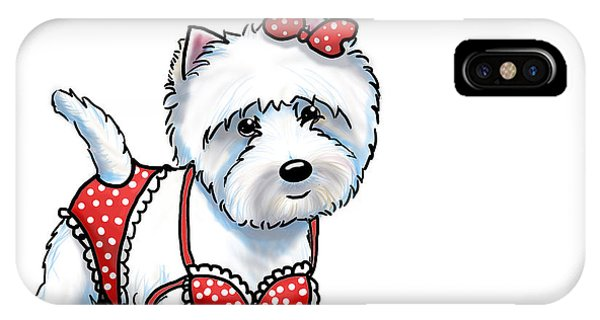 Beach Babe Westie IPhone Case