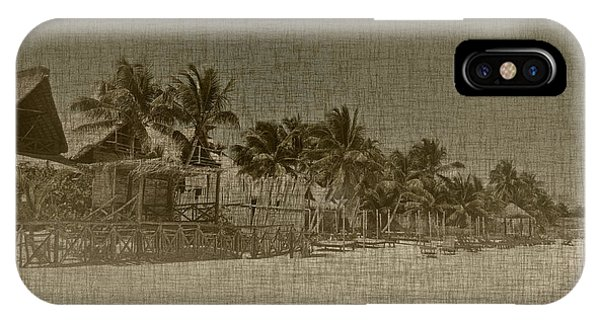 Beach Huts In A Tropical Paradise IPhone Case