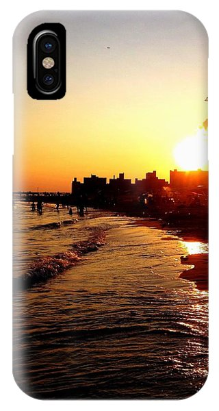 Beach Sunset - Coney Island - New York City IPhone Case
