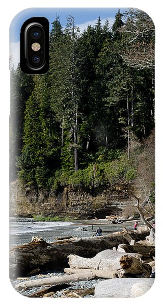 Beached Logs China Beach Vancouver Island Bc IPhone Case
