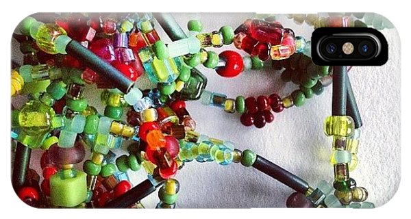 Green iPhone Case - Beads by Nic Squirrell