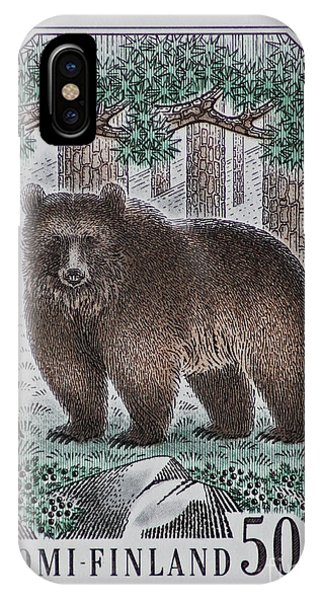 Bear Vintage Postage Stamp Print IPhone Case