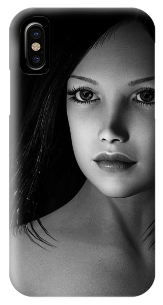 Beautiful Portrait - Black And White IPhone Case