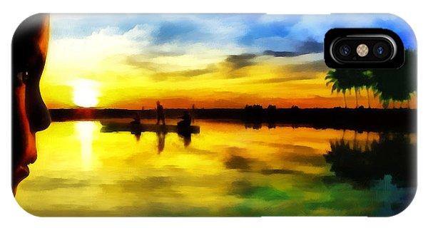 Beautiful Sunset Phone Case by Vidka Art