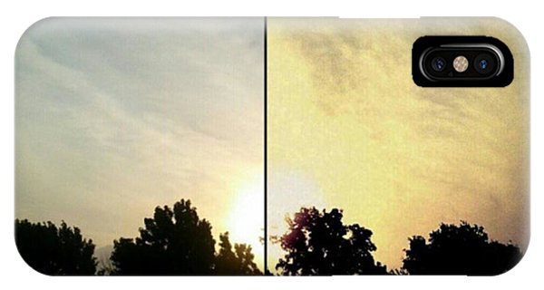 #before & #after #sunrise #sky #clouds Phone Case by Kel Hill