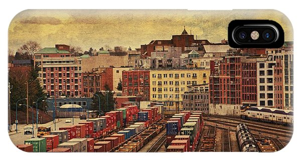 Vancouver City iPhone Case - Behind Gas Town by Julius Reque