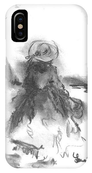 IPhone Case featuring the drawing Being Happy by Laurie Lundquist