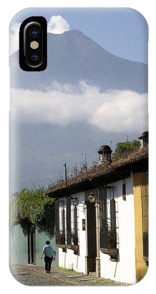 Beneath The Volcano Antigua Guatemala IPhone Case