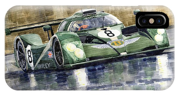 Bentley Prototype Exp Speed 8 Le Mans Racer Car 2001 IPhone Case