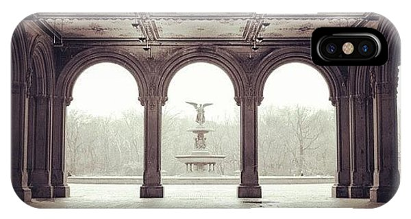 City iPhone Case - Bethesda Terrace by Randy Lemoine