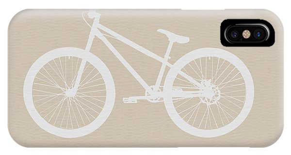 Bicycle iPhone X Case - Bicycle Brown Poster by Naxart Studio