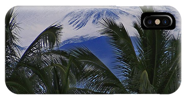 Big Island Palms And Snow IPhone Case