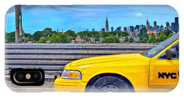 Hyper Realism iPhone Case - Big Yellow Taxi by Marianne Campolongo