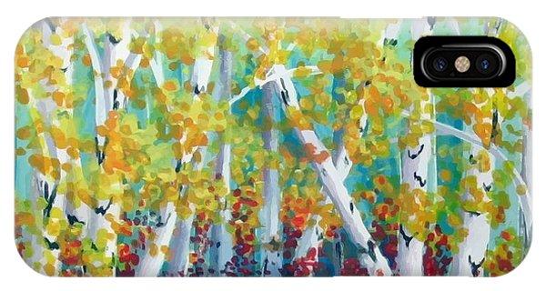 Birches In Autumn Phone Case by Sharon Marcella Marston