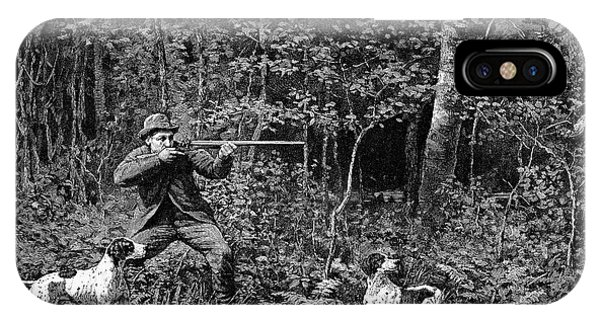 Woodcock iPhone Case - Bird Shooting, 1886 by Granger