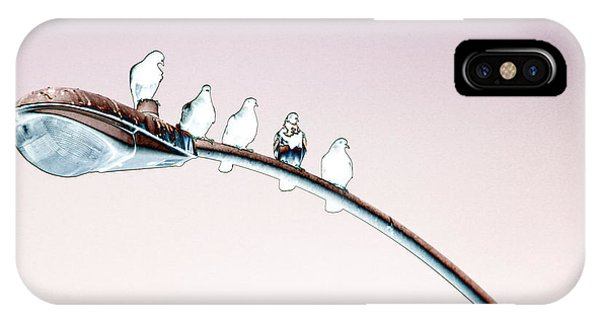 Birds On A Streetlight IPhone Case