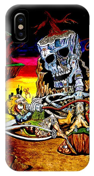 IPhone Case featuring the mixed media Birth And Death by eVol  i