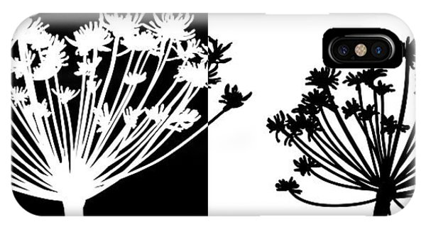 Black And White Phone Case by Nomi Elboim
