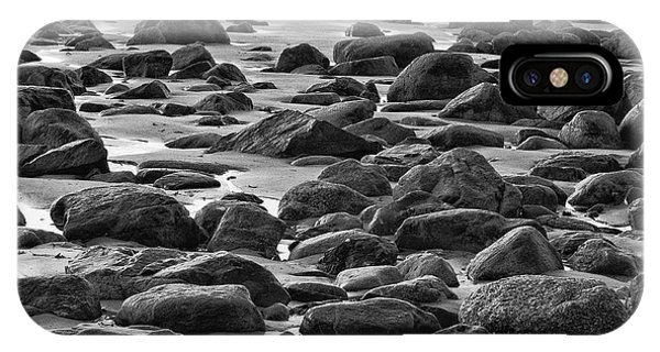 Black And White Wet Rocks IPhone Case