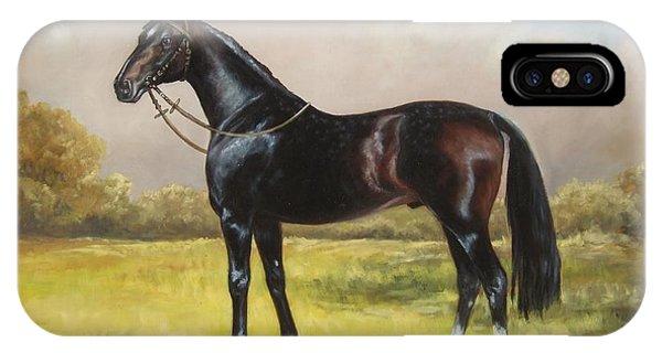 Black English Horse IPhone Case