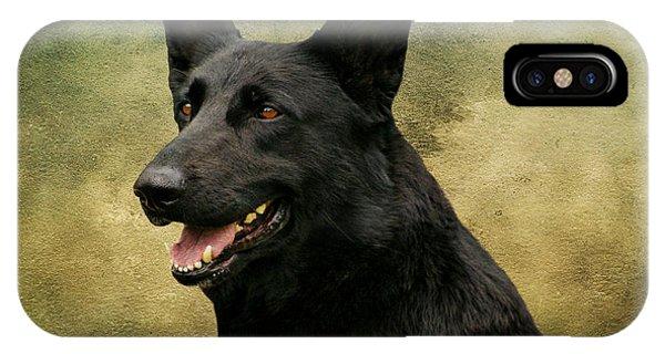 Black German Shepherd Dog IIi IPhone Case