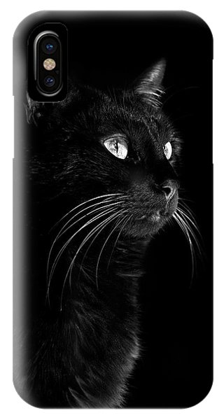 Black Portrait IPhone Case