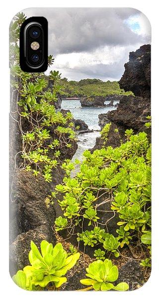 Black Sand iPhone Case - Black Sands Beach Hana Maui Hawaii 2 by Dustin K Ryan