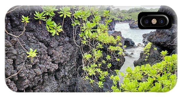 Black Sand iPhone Case - Black Sands Beach Hana Maui Hawaii by Dustin K Ryan