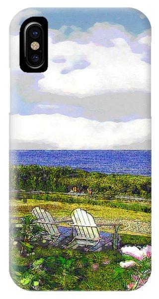 Block Island Sea Chairs IPhone Case