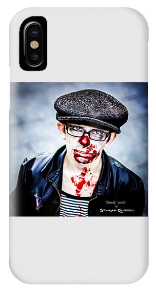 IPhone Case featuring the photograph Bloody Youth by Stwayne Keubrick