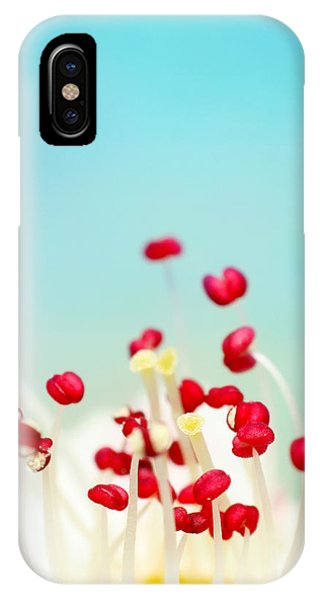 Stamen iPhone Case - Blooming Candy Red by Sharon Johnstone
