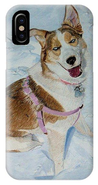 Blue - Siberian Husky Dog Painting IPhone Case