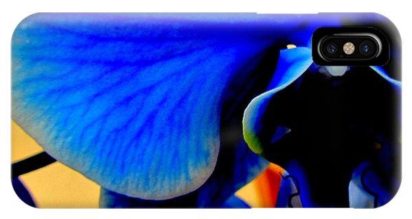 Blue Diamonds Orchids IPhone Case