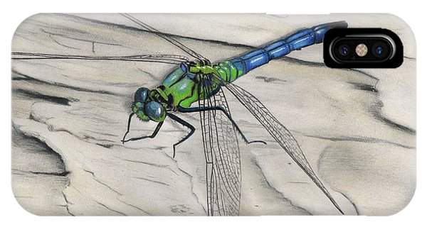 Blue-green Dragonfly IPhone Case
