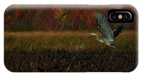 Blue Heron Mud Pond Dublin IPhone Case