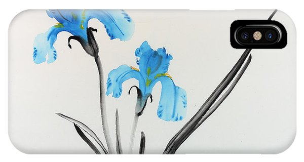 Blue Iris I IPhone Case