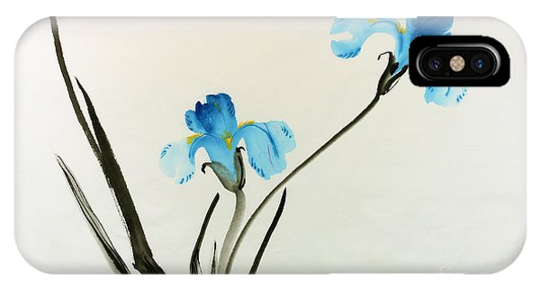 blue iris II IPhone Case
