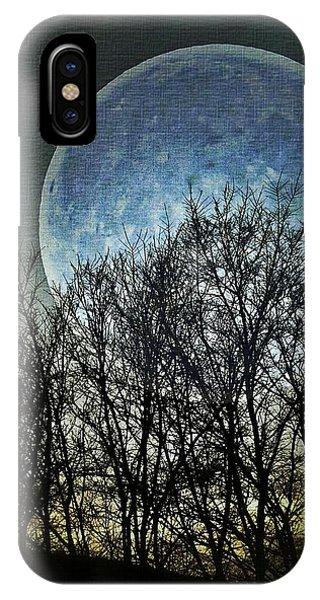 Half Moon iPhone Case - Blue Moon by Marianna Mills