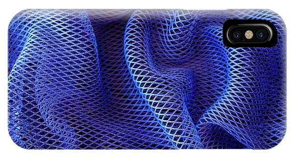 Blue Net Background IPhone Case