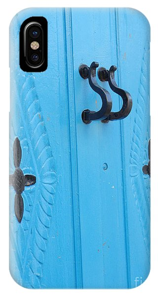 Blue Sidi Bou Said Tunisia Door IPhone Case